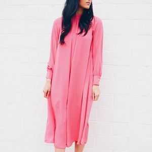 H&M hot pink dress